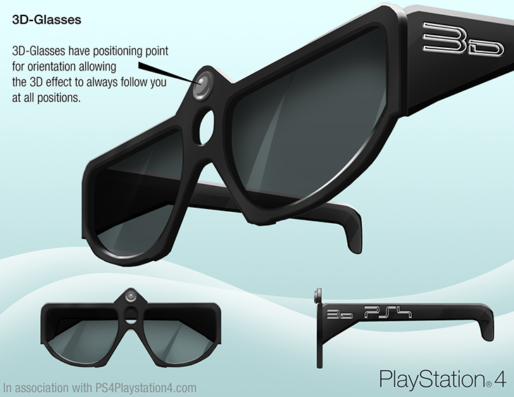 PS4 Concept Design - 3D Glasses