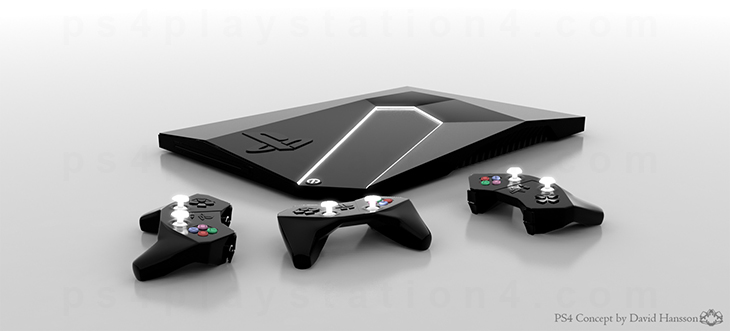 PS4 Console Concept and Controller Design by David Hansson