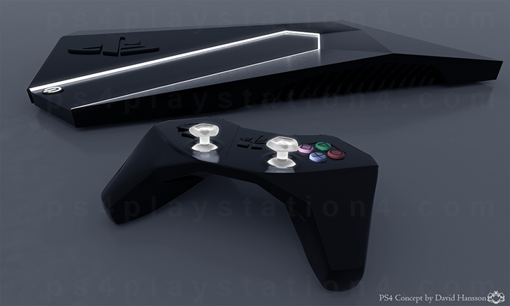 PlayStation 4 Concept Design - Night Console and Controller
