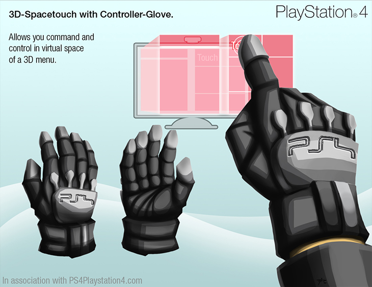 PS4 Glove Concept Design - Controller