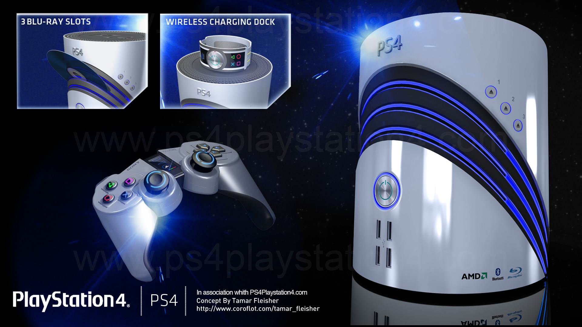 Design Concepts Wallpaper : Ps console controller concept design by tamar