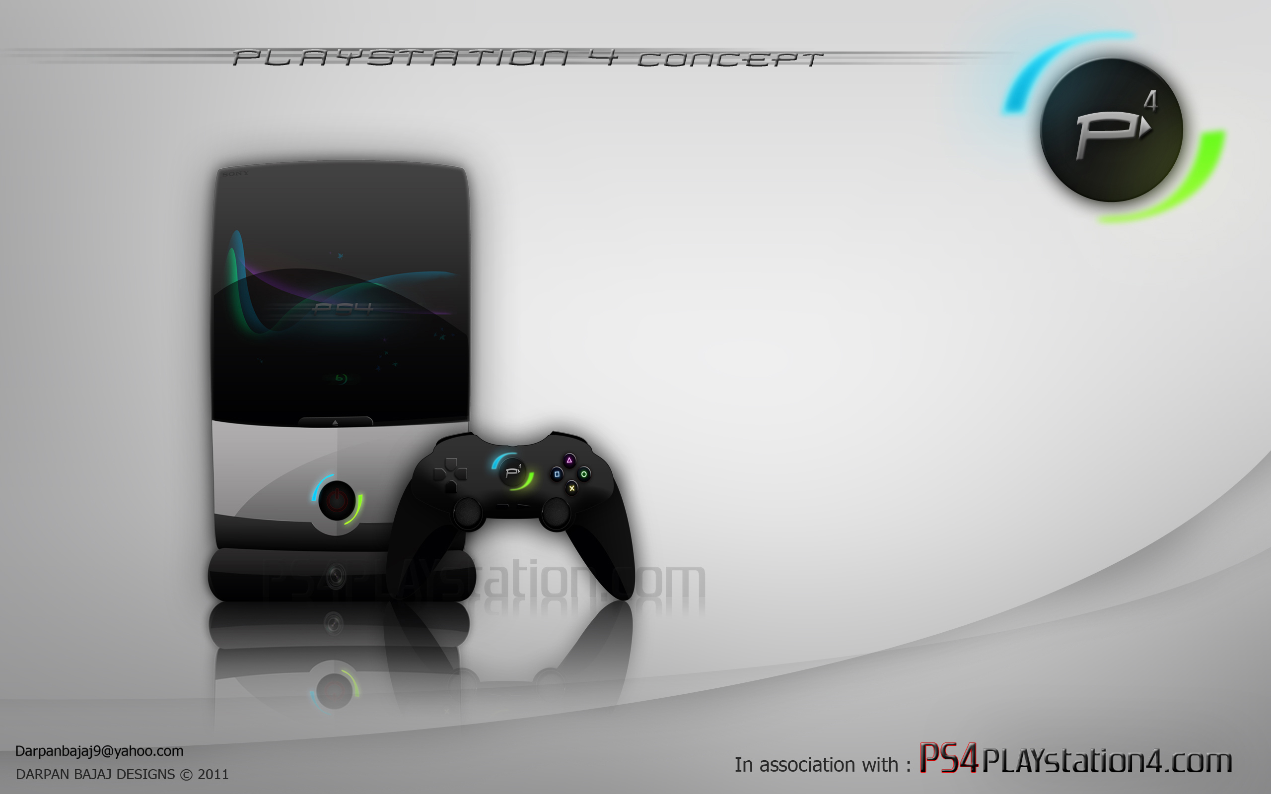 Ps4 concept design by darpan for Ps4 at home