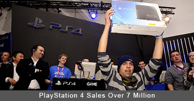 PlayStation 4 Sales Over 7 Million