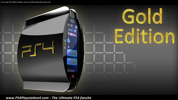 PS4 Concept Design - Gold Edition