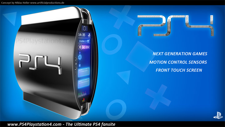 PS4 Concept Design Niklas Lighter Blue