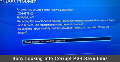 Sony Looking Into Corrupt PS4 Save Files