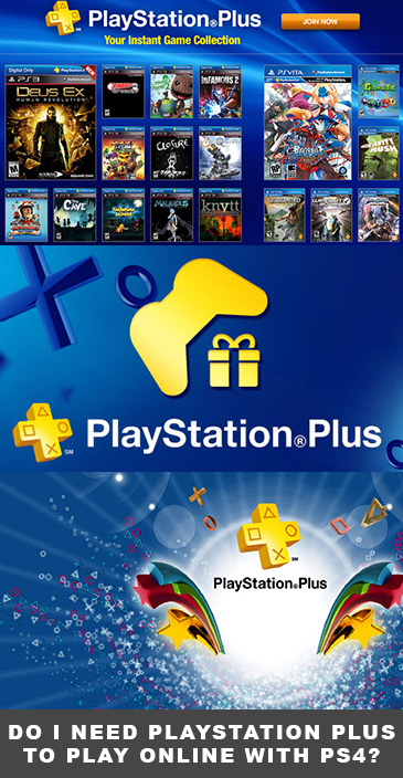 Do I need PlayStation Plus to play online with PS4?