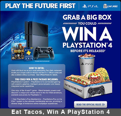 Eat Tacos, Win A PlayStation 4