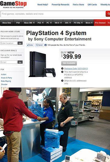 GameStop, Best Buy, PS4