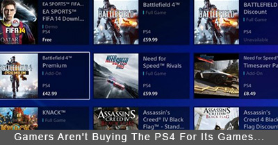 Gamers Aren't Buying The PlayStation 4 For Its Games...