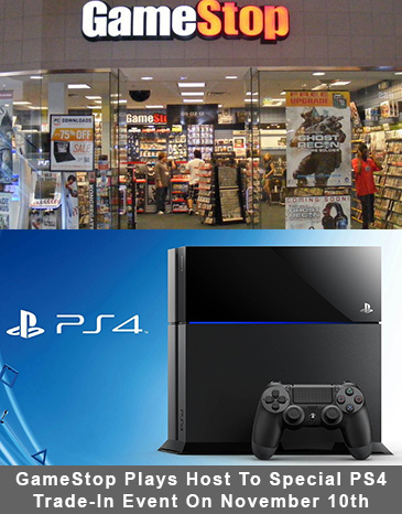 GameStop Plays Host To Special PS4 Trade-In Event On November 10th