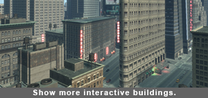 Grand Theft Auto interactive buildings