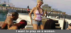 Grand Theft Auto play as a woman