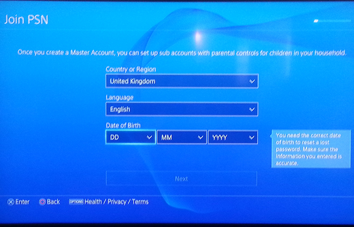 how to get epic games account using psn