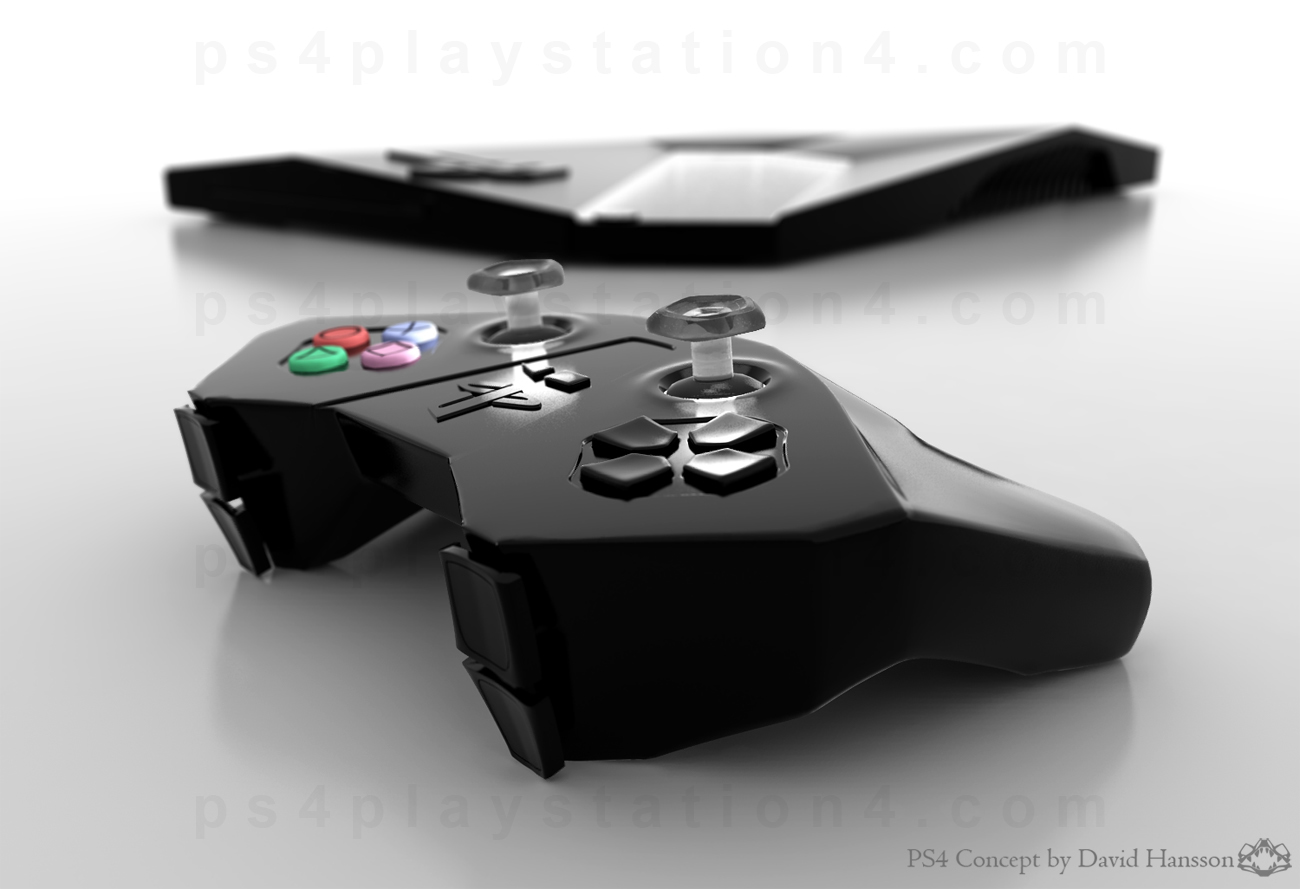 Playstation 4 Dualshock Controller Specs Design Stik Ps4 New Model Glacier White Close Up And Console By David Hansson