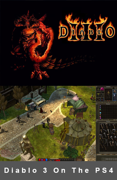 Diablo 3 Setting Fire To The Playstation 4