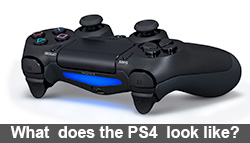 What does the PlayStation 4 look like?