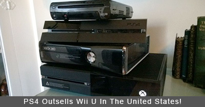 PlayStation 4 Outsells Wii U In The United States!