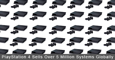 PlayStation 4 Sells Over 5 Million Systems Globally