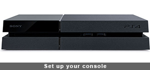 Set up your console ps4