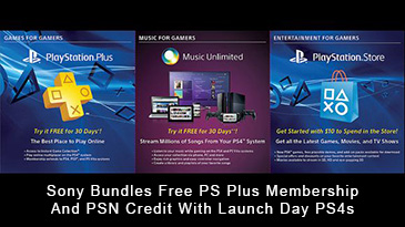 Sony Bundles Free PS Plus Membership And PSN Credit With Launch Day PS4s