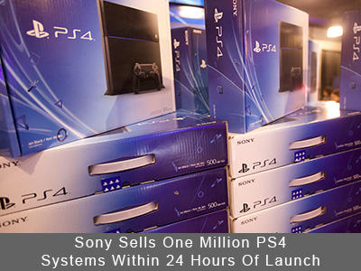 Sony Sells One Million PlayStation 4 Systems Within 24 Hours Of Launch