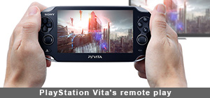 Play games around the house or on the go with the PlayStation Vita's remote play