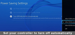 Set your controller to turn off automatically