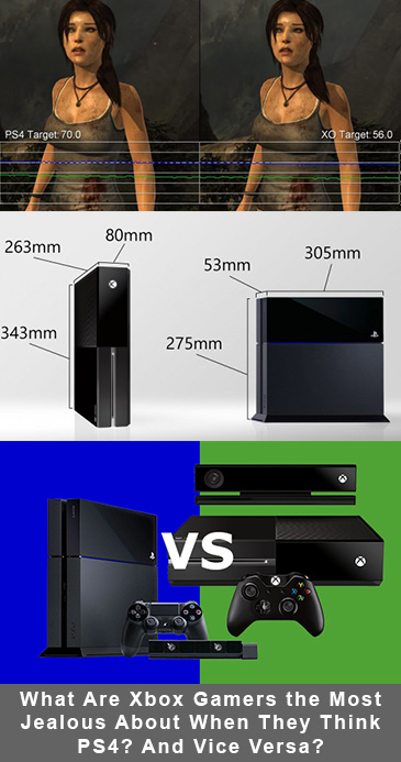 What Are Xbox Gamers the Most Jealous About When They Think PS4? And Vice Versa?