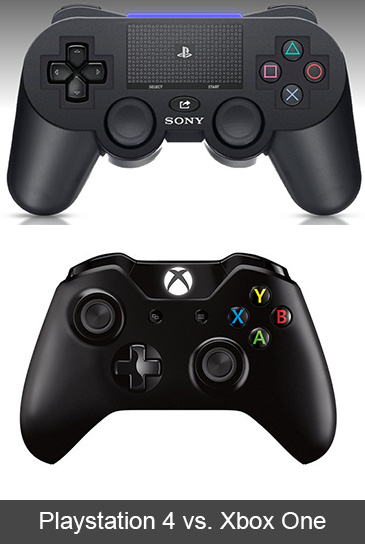 PS4 Vs Xbox One Controllers